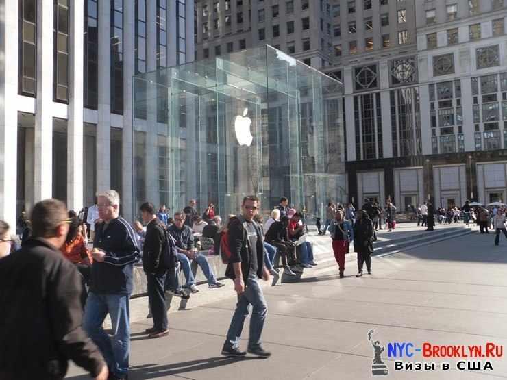 5. Магазин Apple Store в Нью-Йорке, на 5th Avenue - NYC-Brooklyn