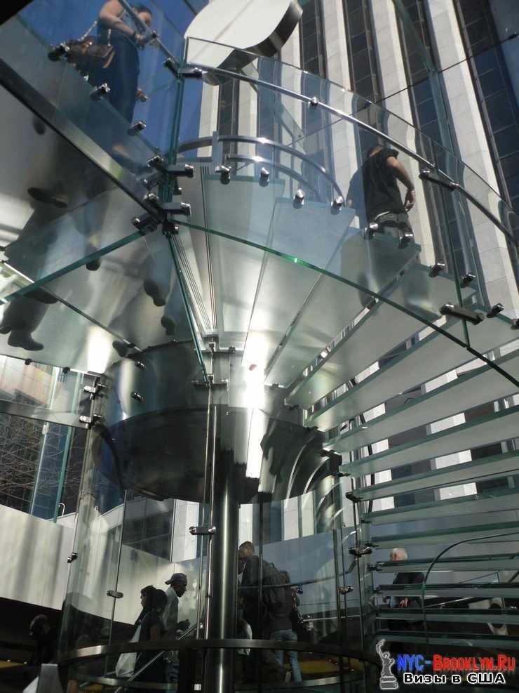 12. Магазин Apple Store в Нью-Йорке, на 5th Avenue - NYC-Brooklyn