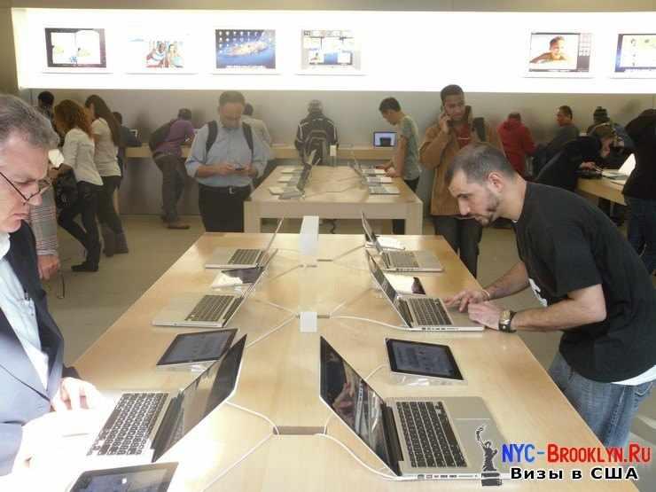 13. Магазин Apple Store в Нью-Йорке, на 5th Avenue - NYC-Brooklyn