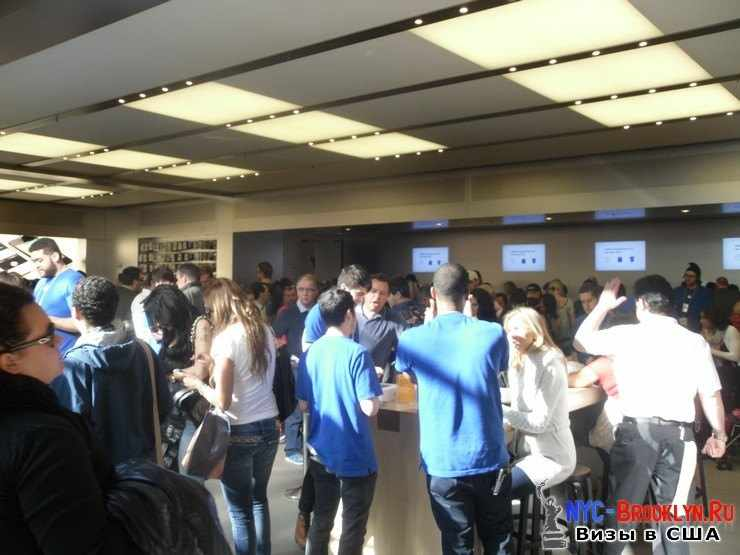 15. Магазин Apple Store в Нью-Йорке, на 5th Avenue - NYC-Brooklyn