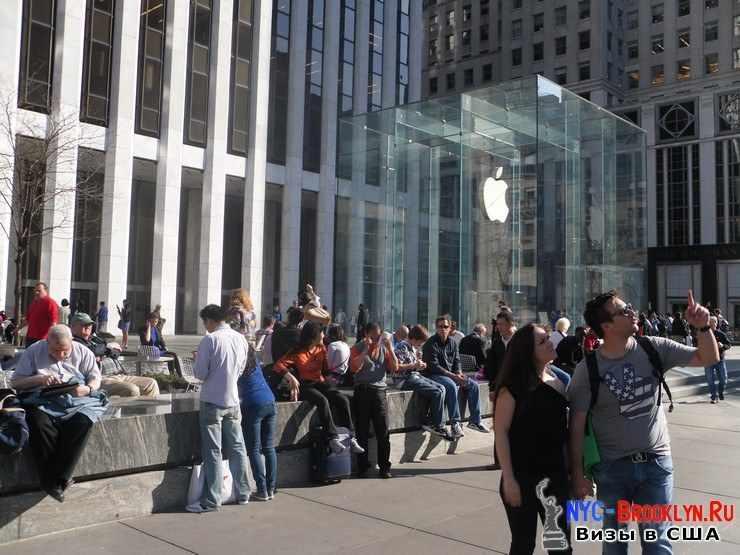 4. Магазин Apple Store в Нью-Йорке, на 5th Avenue - NYC-Brooklyn