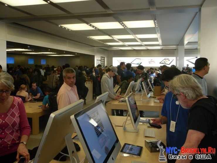 20. Магазин Apple Store в Нью-Йорке, на 5th Avenue - NYC-Brooklyn