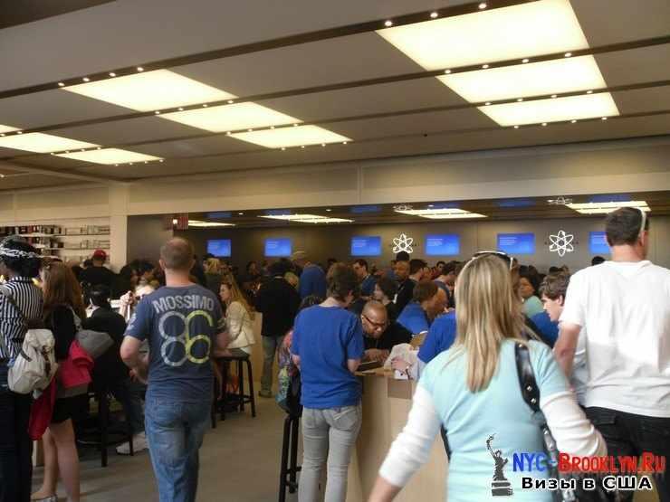 11. Магазин Apple Store в Нью-Йорке, на 5th Avenue - NYC-Brooklyn