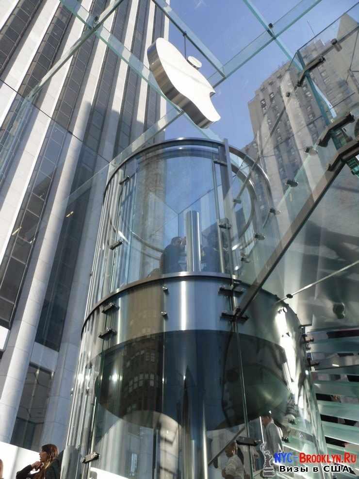 32. Магазин Apple Store в Нью-Йорке, на 5th Avenue - NYC-Brooklyn