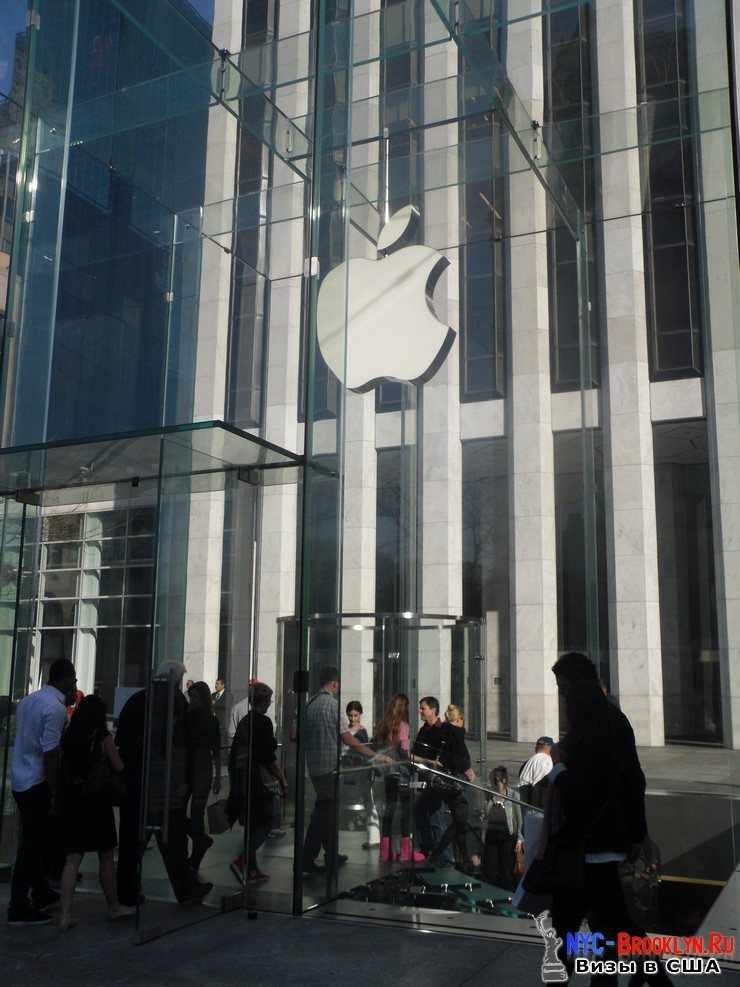 43. Магазин Apple Store в Нью-Йорке, на 5th Avenue - NYC-Brooklyn