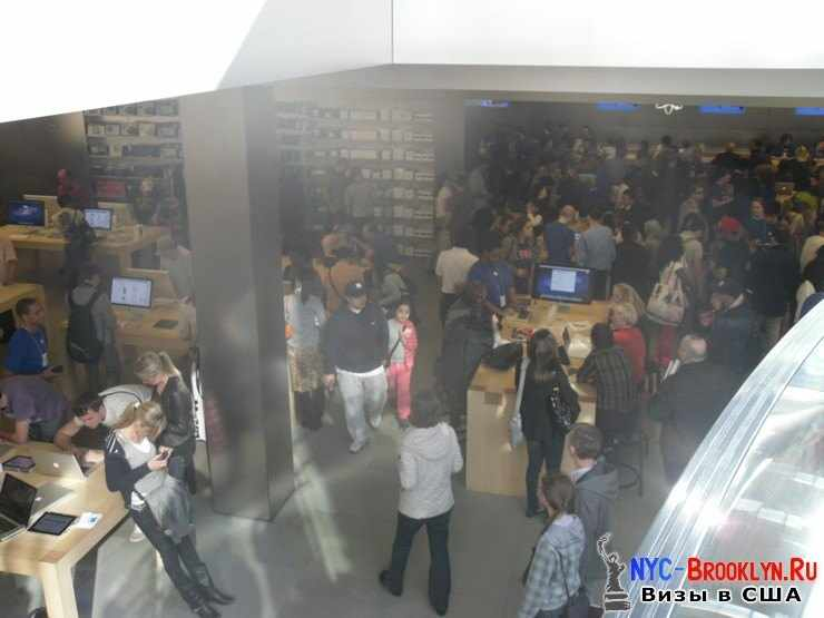 10. Магазин Apple Store в Нью-Йорке, на 5th Avenue - NYC-Brooklyn