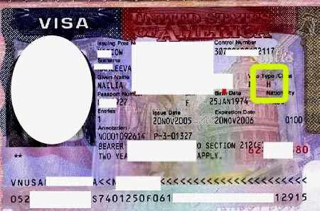 американская виза H