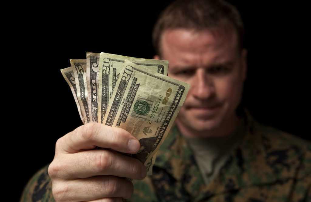 Заработная плата в армии США