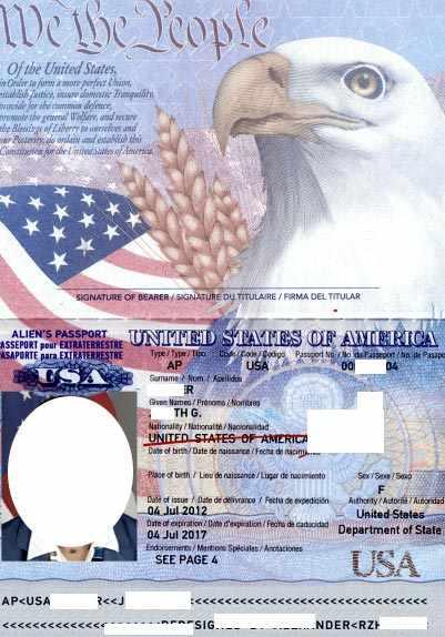 американский паспорт